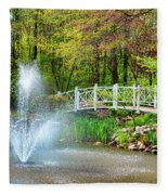 Sayen Garden Impression Fleece Blanket