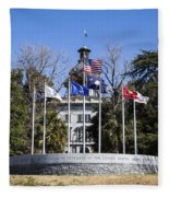 Sc Veterans Monument Fleece Blanket