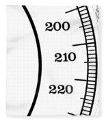 Scale Numbers Fleece Blanket