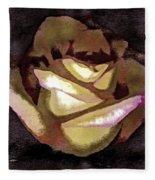 Scanned Rose Water Color Digital Photogram Fleece Blanket