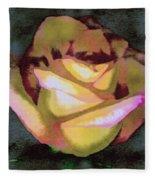 Scanned Rose Water Color Fleece Blanket