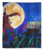 Scarecrow Dancing With The Moon Fleece Blanket