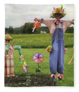 Scarecrows Fleece Blanket