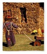 Scarecrows Play Too Fleece Blanket