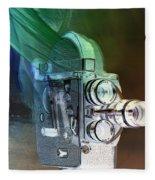 Scarf Camera In Negative Fleece Blanket