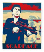 Scarface Fleece Blanket
