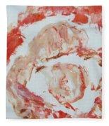 Scarlet Beauty Fleece Blanket
