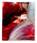 Scarlet Swirls Abstract Fleece Blanket