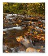 Scattered Leaves Fleece Blanket
