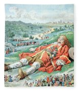Scene From Gullivers Travels Fleece Blanket