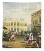 Scene In Bombay, From Volume I Fleece Blanket