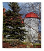 Scene In Vermont Fleece Blanket