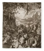 Scene Of Hell, 1731 Fleece Blanket