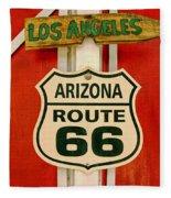 Scenes On Route 66 Fleece Blanket