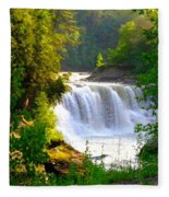 Scenic Falls Fleece Blanket