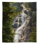 Scenic Of Shannon Fallsbritish Columbia Fleece Blanket