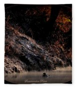 Scenic Sucarnoochee River - Wood Duck Fleece Blanket