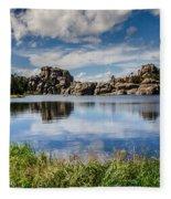 Scenic Sylvan Lake At Custer State Park Fleece Blanket