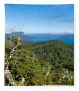 Scenic Urewera Np With Lake Waikaremoana In Nz Fleece Blanket
