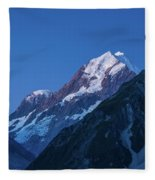 Scenic View Of Mountain At Dusk Fleece Blanket