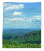 Scenic View Of Mountain Range, Blue Fleece Blanket