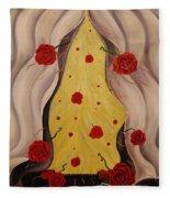 Scent Of Roses Fleece Blanket