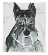 Schnauzing Around Fleece Blanket