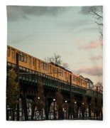 Schoenhauser Allee Berlin Fleece Blanket