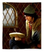 Scholar By Moonlight Fleece Blanket