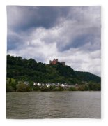 Schonburg Oberwesel Am Rhein Fleece Blanket