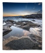 Schoodic Reflections Fleece Blanket