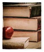 School Books Fleece Blanket