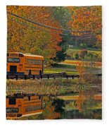 School Days Of Autumn Fleece Blanket