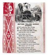 School Trade Card, C1860 Fleece Blanket