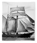Schooner, 1888 Fleece Blanket