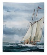 Schooner Adventuress Fleece Blanket