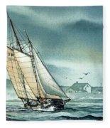 Schooner Voyager Fleece Blanket