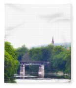 Schuylkill River At Manayunk Philadelphia Fleece Blanket