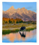 Schwabacher Morning Light  Fleece Blanket