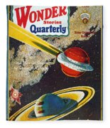 Science Fiction Cover, 1931 Fleece Blanket