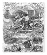 Scientific American, 1867 Fleece Blanket