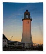 Scituate Lighthouse In Oct Fleece Blanket
