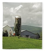 Scoharie New York Farm Fleece Blanket