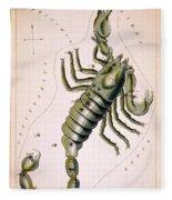 Scorpio Constellation  1825 Fleece Blanket