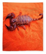 Scorpion Red Sand Sting Insect Fleece Blanket