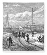 Scotland Train Crash Fleece Blanket