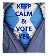 Scottish Businessman Votes Yes Fleece Blanket