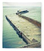 Scottish Harbour Fleece Blanket