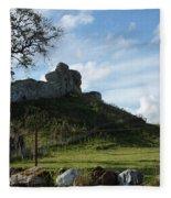 Scottish Castle Ruins Fleece Blanket