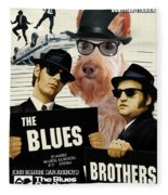 Scottish Terrier Art Canvas Print - The Blues Brothers Movie Poster Fleece Blanket